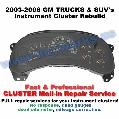 GMC Sierra (2003-2006) Cluster Repair