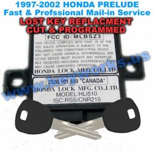 Honda Prelude (1997-2002) Key Replacement