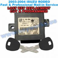Isuzu Rodeo (2003-2004) Key Replacement