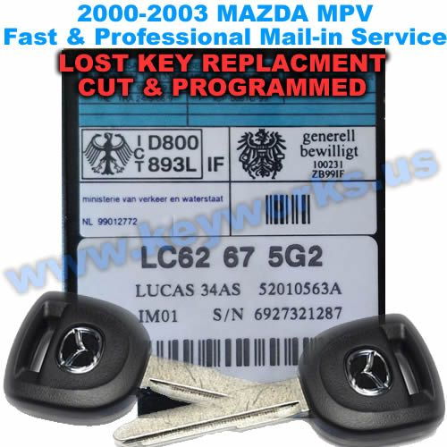 Mazda MPV (2000-2003) Key Replacement