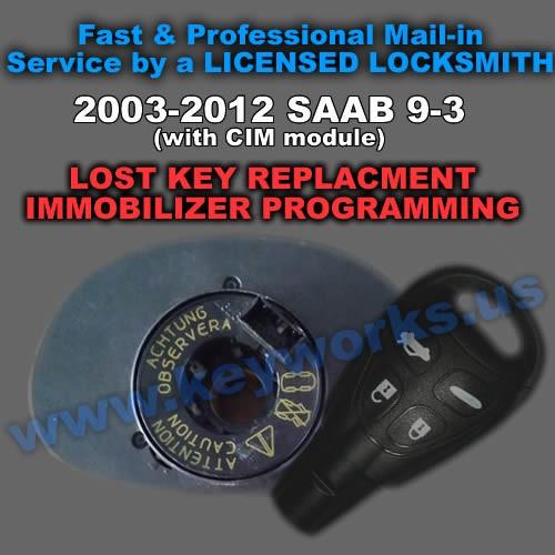 Saab 9-3 (CIM) (03-12) Key Replacement