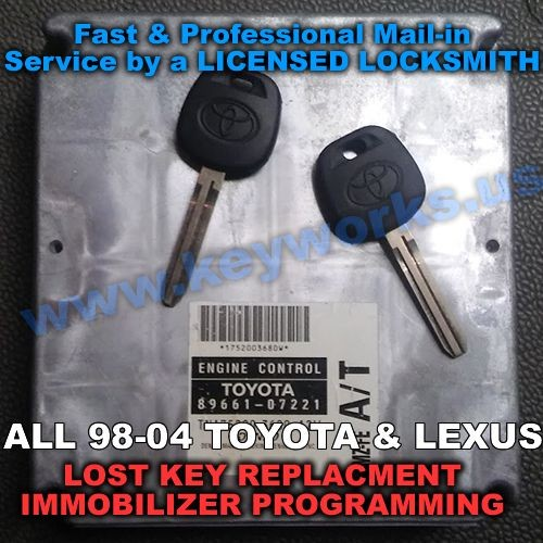 Lexus All models(98-04) Key Replacement